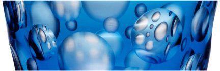 Rotter Glas Kristall Aqua Design Aufsteiger