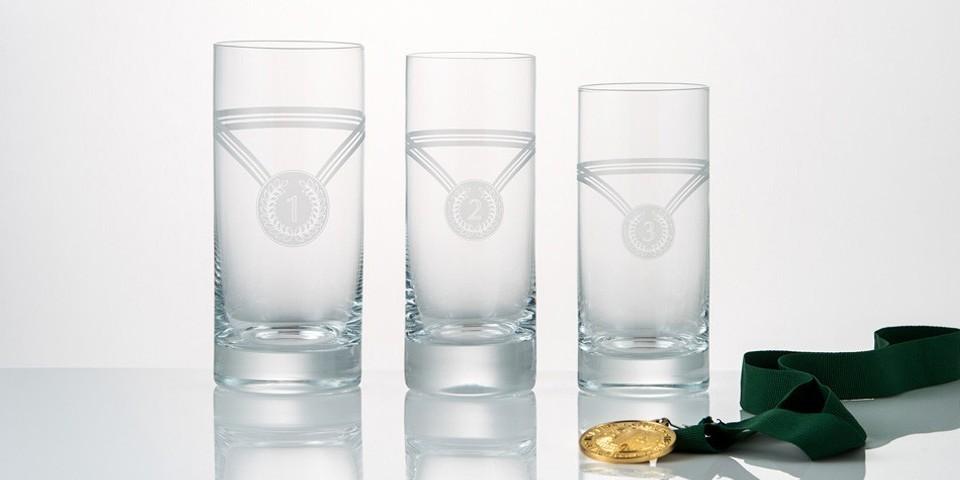 Rotter Glas Sportpreise mit Medaillen
