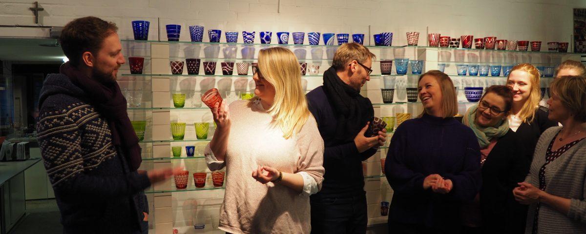 Das Team der LTM Luebeck Travemuende Marketing zu Besuch bei Rotter Glas